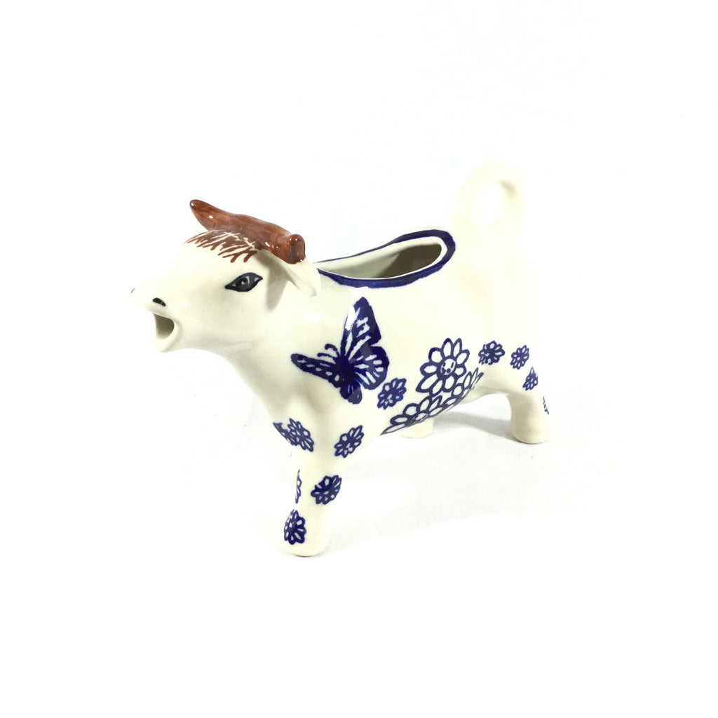 Polish Pottery Cow Creamer in Butterfly Butterfly
