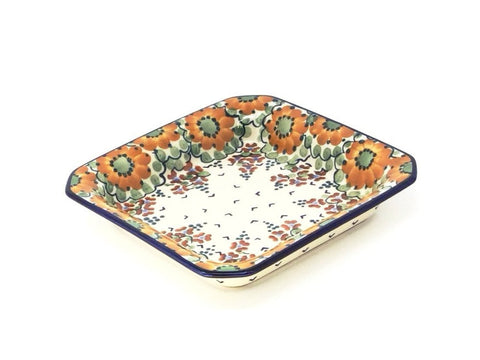 "Polish Pottery Square Server 8"" (S-090) Fall"