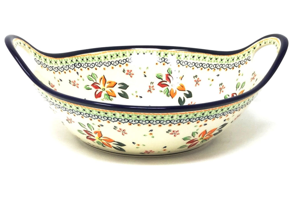 Polish Pottery Md Bowl w/Seamless Handles DU118