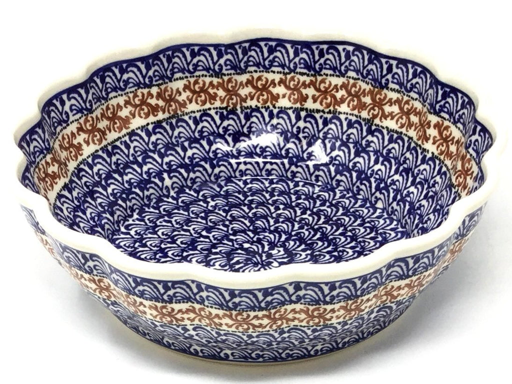Polish Pottery Scalloped Bowl 51 oz 1117