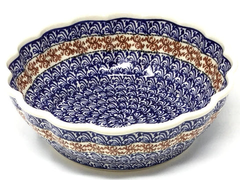Polish Pottery Scalloped Bowl 51 oz (1279A) 1117