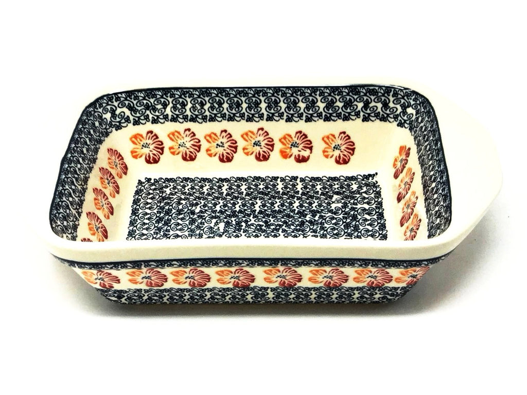 Polish Pottery Sm Rectangular Baker w/Lip 955