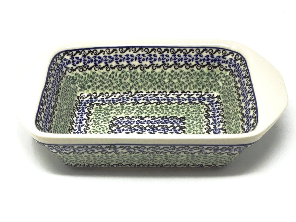 Polish Pottery Sm Rectangular Baker w/Lip 1182