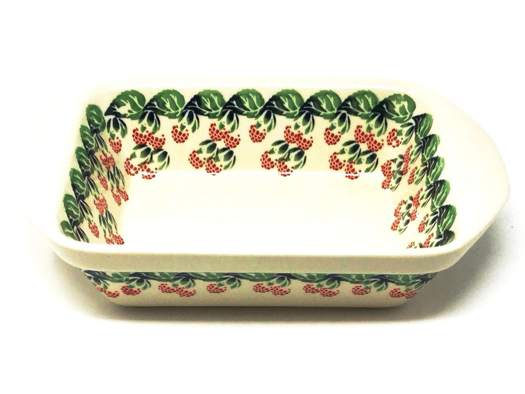 Polish Pottery Sm Rectangular Baker w/Lip 1170