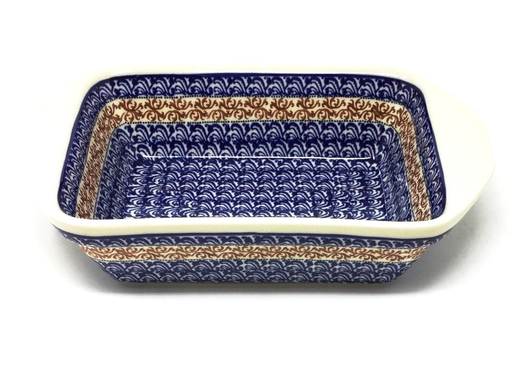 Polish Pottery Sm Rectangular Baker w/Lip 1117