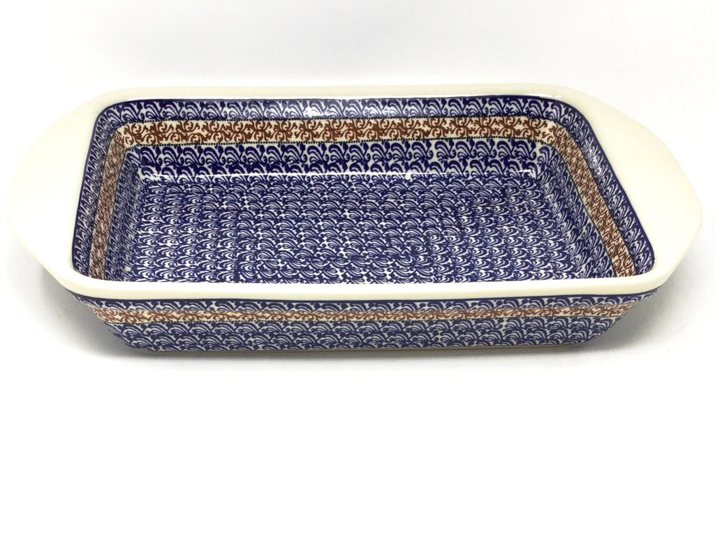 Polish Pottery Lg Rectangular Baker w/Lip 1117