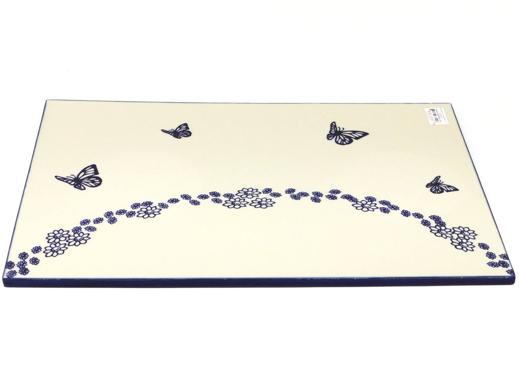 Polish Pottery Rectangular Cutting Board in Butterfly Butterfly