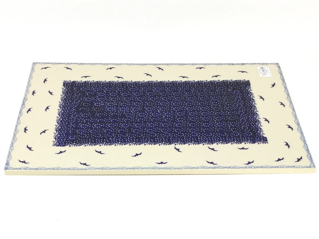 Polish Pottery Rectangular Cutting Board in Seagulls Seagulls