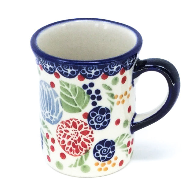 Polish Pottery Espresso Cup 4 oz in Modern Berries Modern Berries