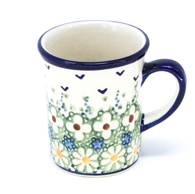 Polish Pottery Espresso Cup 4 oz in Spring Spring