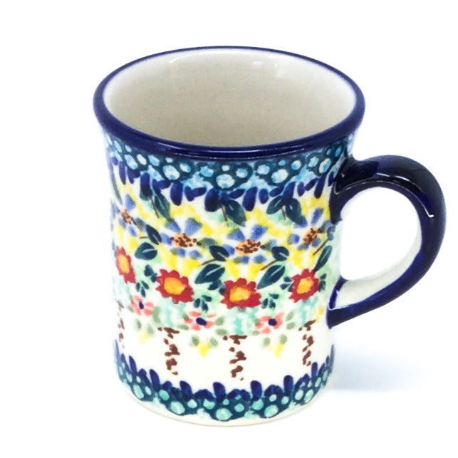 Polish Pottery Espresso Cup 4 oz in Country Fall Country Fall