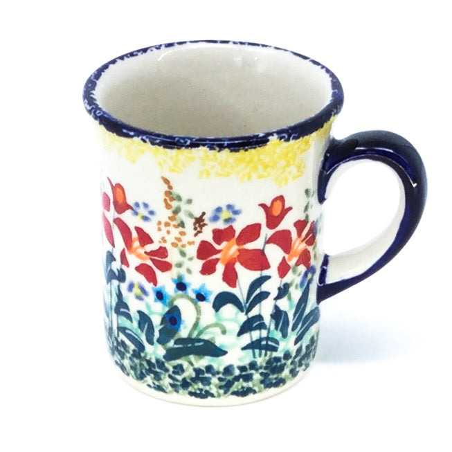 Polish Pottery Espresso Cup 4 oz in Country Summer Country Summer