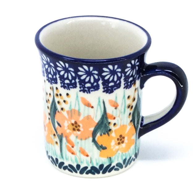 Polish Pottery Espresso Cup 4 oz in Sunshine Meadow Sunshine Meadow
