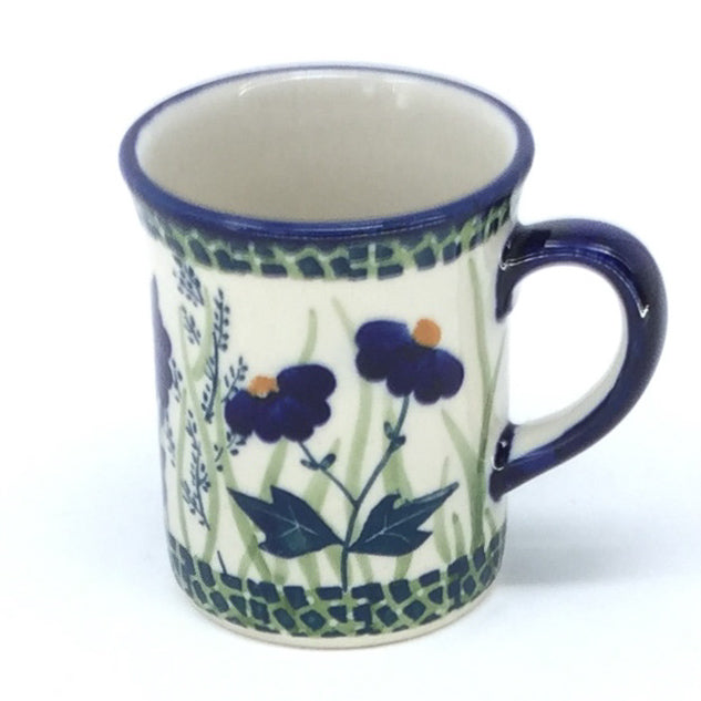 Polish Pottery Espresso Cup 4 oz in Wild Blue Wild Blue