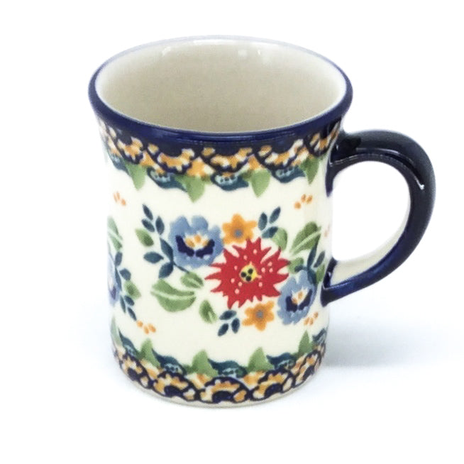 Polish Pottery Espresso Cup 4 oz in Late Spring Late Spring
