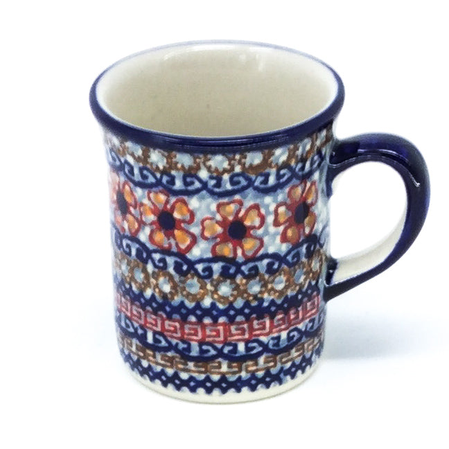 Polish Pottery Espresso Cup 4 oz in Earth Tones Earth Tones