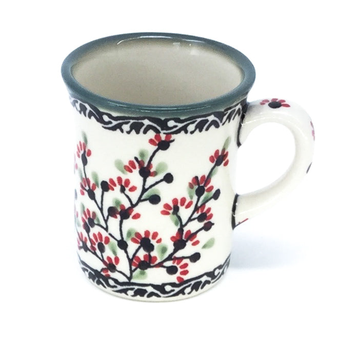 Polish Pottery Espresso Cup 4 oz in Japanese Cherry Japanese Cherry
