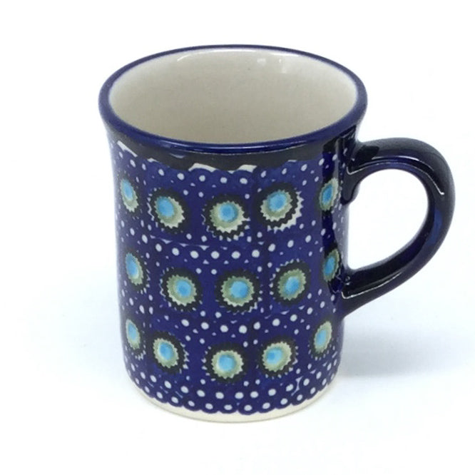 Polish Pottery Espresso Cup 4 oz in Blue Moon Blue Moon