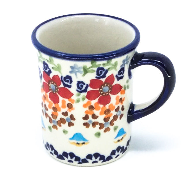 Polish Pottery Espresso Cup 4 oz in Summer Summer