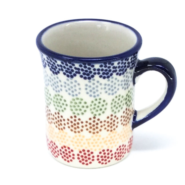 Polish Pottery Espresso Cup 4 oz in Modern Dots Modern Dots