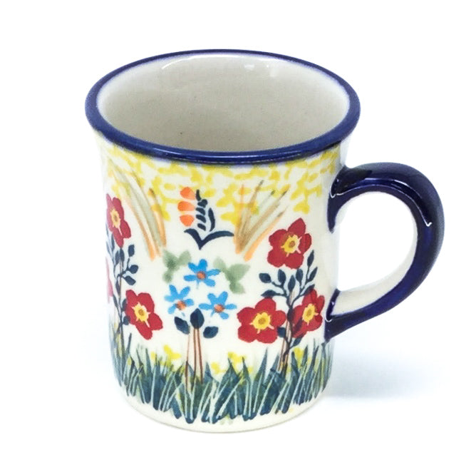 Polish Pottery Espresso Cup 4 oz in Autumn Bouquet Autumn Bouquet