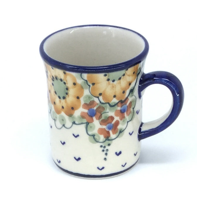 Polish Pottery Espresso Cup 4 oz in Fall Fall
