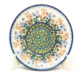"Polish Pottery Round Dinner Plate 10"" (T-132S) Country Spring"