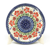 "Polish Pottery Round Dinner Plate 10"" (T-132S) Spring Meadow"