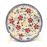 "Polish Pottery Round Dinner Plate 10"" (T-132S) Summer Arrangement"