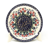 "Polish Pottery Round Dinner Plate 10"" (T-132S) Red Tulips"