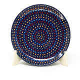 "Polish Pottery Round Dinner Plate 10"" (T-132S) Multi-Colored Dots"