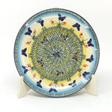"Polish Pottery Round Dinner Plate 10"" (T-132S) Butterfly Field"