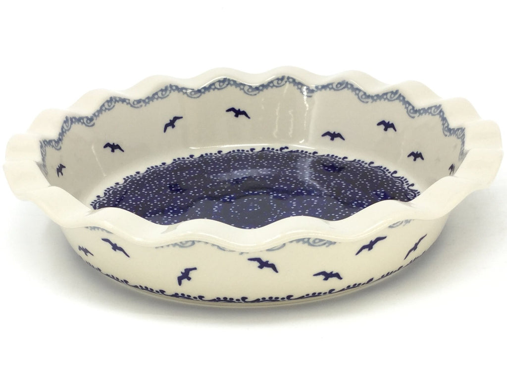 Polish Pottery Pie Baker in Seagulls