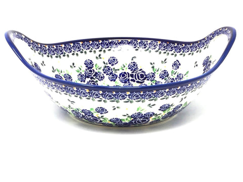 Polish Pottery Bowl w/ Handles 3 qt (1347) DU176