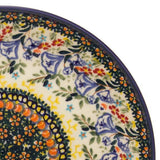 "Polish Pottery Fluted Pasta Bowl 15""x3.5"" (P-130) Autumn"