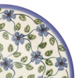 "Polish Pottery Fluted Pasta Bowl 15""x3.5"" (P-130) Blue Clematis"
