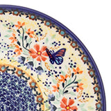 Polish Pottery Heart Container 2 qt (P-014) Butterfly Meadow