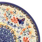Polish Pottery Spoon Base (P-093) Butterfly Meadow