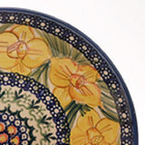 "Polish Pottery Fluted Pasta Bowl 15""x3.5"" (P-130) Daffodils"