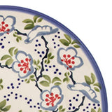 "Polish Pottery Fluted Pasta Bowl 15""x3.5"" (P-130) Japanese Garden"