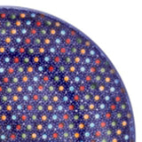 "Polish Pottery Sm Fluted Bowl 9""x3"" (M-119) Multi-Colored Dots"