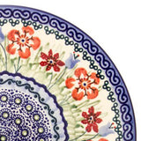 "Polish Pottery Tiny Oval Platter 9.5"" (P-097) Spring Meadow"