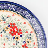 "Polish Pottery Tiny Oval Platter 9.5"" (P-097) Summer Bouquet"
