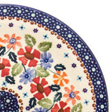 Polish Pottery Heart Container 2 qt (P-014) Wild Flowers