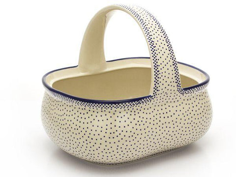 Polish Pottery Basket 128 oz in Simple Elegance Simple Elegance
