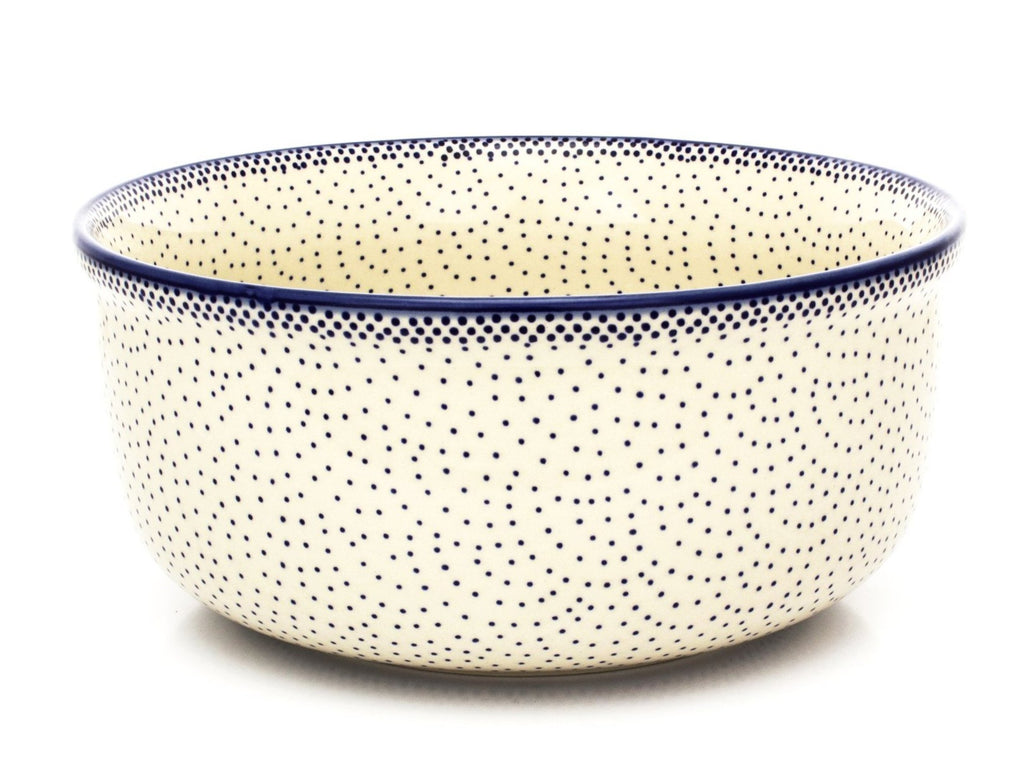 Polish Pottery Lg Deep Bowl in Simple Elegance Simple Elegance