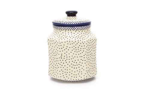 Polish Pottery 1 qt Airtight Canister (P-173) Simple Elegance