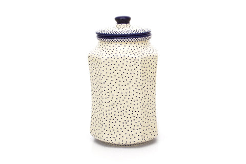 Polish Pottery 1.5 qt Airtight Canister (P-174) Simple Elegance