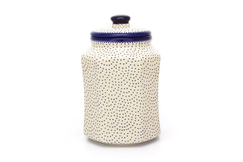 Polish Pottery 2.5 qt Airtight Canister (P-176) Simple Elegance