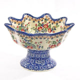 Signature Pedestal Berry Bowl (P-184)